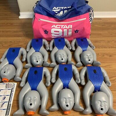 Actar 911 Infantry 7-Pack Infant CPR Training Mannequins Manikin Pediatric Dolls