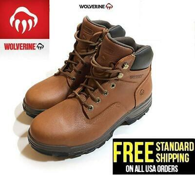 "Wolverine Men's 6"" Steel Toe Waterproof Oil & Slip Resistant Work Boot - Brown"
