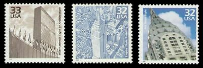 New York Empire State Chrysler UN Buildings Mint Vintage 15 Year Old Stamp Set