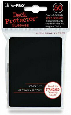 Solid Sleeves (50ct) - Black (Ultra Pro) Ultra Pro GAMING SUPPLY BRAND NEW