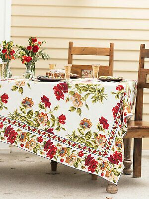 April Cornell Tablecloth Sun Follower Collection 36x36 NWT 100/% Cotton Black