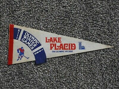 1980 Lake Placid Olympic Winter Games Miracle On Ice Hockey Pennant