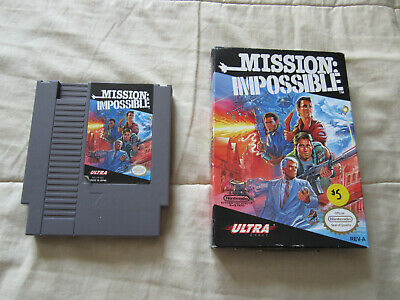 Mission Impossible NES Nintendo Cartridge With Box Cleaned & Tested