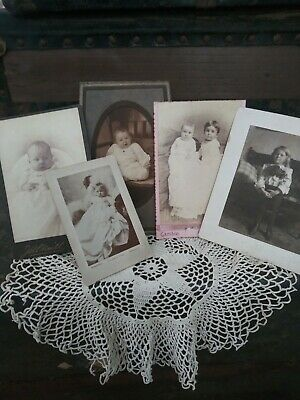 Antique Cabinet Photo Card Lot Children and Babies