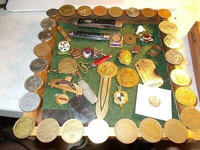 Junk Drawer Clean out , Tokens, Pins, Knives No Junk