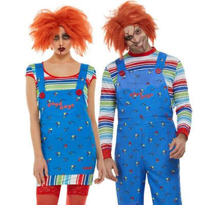 Chucky Adults Fancy Dress Childs Play Killer Doll Mens Ladies Halloween Costumes