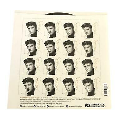 Elvis Presley The King 16 First Class Forever Stamps Sheet 2015 USPS