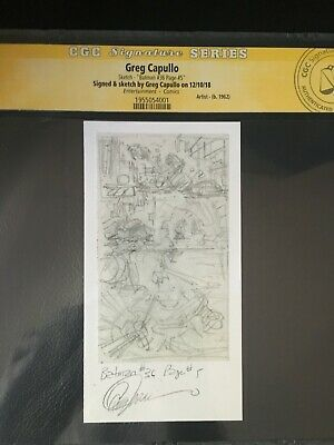 Greg Capullo Grab Bag CGC Signed and Sketched Batman #36 Page #5 Prelim