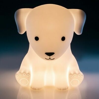 ~❤️PUPPY DOG NIGHT LIGHT Rechargeable USB Soft/Cool touch LED white glow❤️