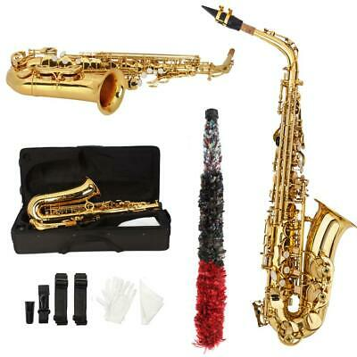 New Professional Alto Eb Saxophone Sax Gold Painted Golden Tube with Case