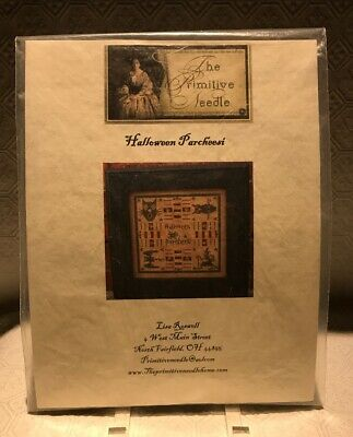 "The Primitive Needle ""Halloween Parcheesi"" Cross Stitch Pattern & Floss"
