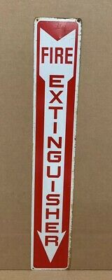 Fire Extinguisher Arrow Safety Metal Sign Industrial Business Vintage Garage