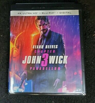 John Wick Chapter 3 Parabellum 4K Ultra/Blu-Ray/Digital New Sealed No Slipcover