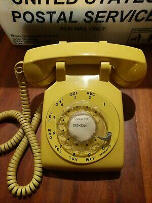 Vintage Western Electric Rotary Telephone 500DM Yellow