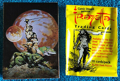 Frazetta Trading Cards Series 1, Complete Set Of 90 Cards W/ Wrapper