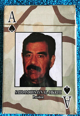 Iraqi Most Wanted Playing Cards, Factory Sealed Box