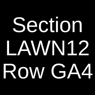 4 Tickets Zac Brown Band 10/20/19 Tampa, FL