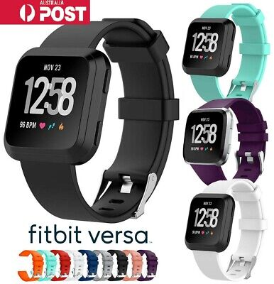 Replacement Silicone Soft Sport Wrist band Strap For Fitbit Versa Lite/Versa AUS