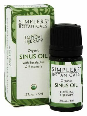 Simplers Botanicals - Topical Therapy Organic Sinus Oil - 0.2 fl. oz.