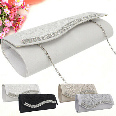 Retor Women Floral Diamond Evening Clutch Bridemaid Handbag Shoulder Bag Purses