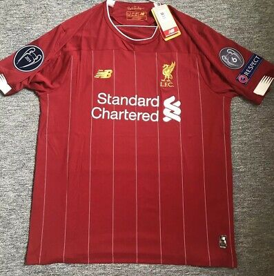 Liverpool FC 2019/2020 Champions League Large Football Shirt  6 Times -Badges