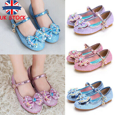 Children Kids Girls Crystal Glitter Dress Up Party Princess Dolly Shoes Sandals