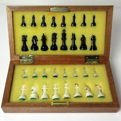 Vintage Magnetic Folding Travel Chess Set - 1960s/70s - Complete