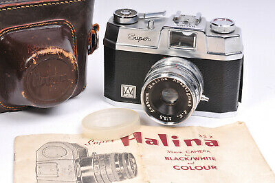 Super Halina 35x Vintage 35mm Camera With Case and Manual