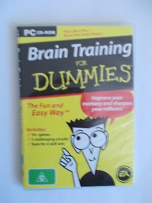 - Brain Training For Dummies [Pc Cd-Rom + Booklet] As New [Aussie Seller]