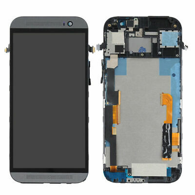 NEW Black For HTC One M8 LCD Display Touch Screen Digitizer Assembly Frame AA+