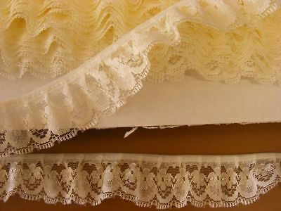Gathered Cream Lace 10 metres (188) 1 Break