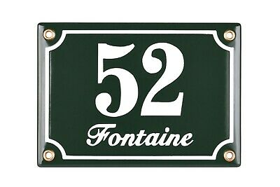Personalised enamel address plaque 12x17 cm - new - house sign number street