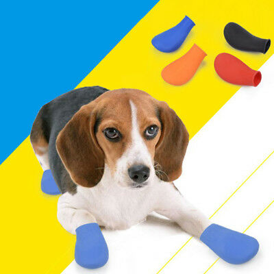 Pets boots waterproof rubber rain shoes non slip outdoor dog puppy candy LM