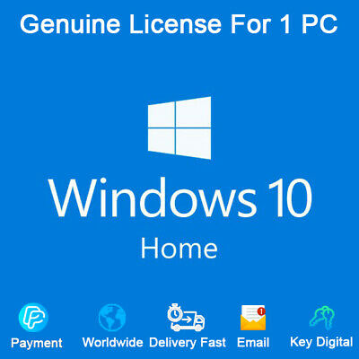 Windows 10 Home 32&64 bit Activation Key Link Download For 1 PC Genuine