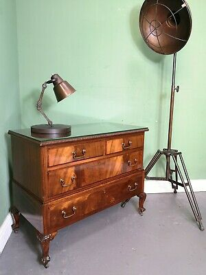 An Antique Style Flame Mahogany Low Boy Chest of Drawers ~Can Deliver~