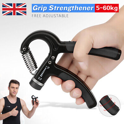 Adjustable Hand Grip 5-60KG Power Wrist Strength Forearm Training Exerciser