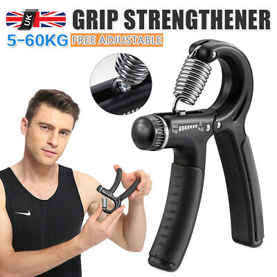 5-60KG Adjustable Hand Grip Power Wrist Strengthener Forearm Training Exerciser