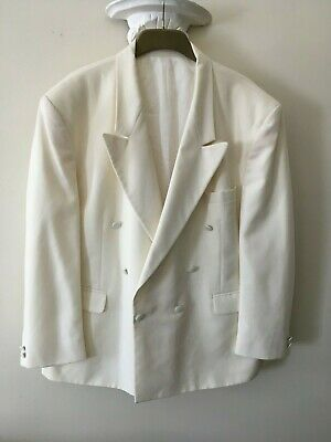 MOORCROFT  Vintage Ivory  Dinner Jacket - Tuxedo  Size 50  Pit 2 Pit  27 Inches