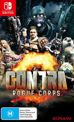 Contra Rogue Corps Nintendo Switch Unlikely Heroes Alien Action Shooter Game