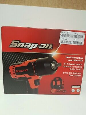 Snap On 18v Lithium Cordless Impact Wrench Kit