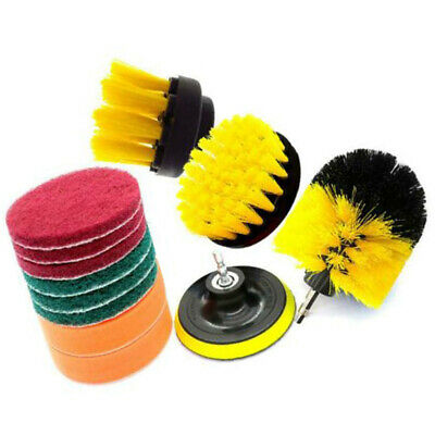 12x Drill Brush Attachment Set Power Scrubber Cleaning Kit Combo Tub Clean