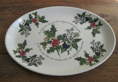 """Portmeirion The Holly And The Ivy OVAL PLATTER / SERVING PLATE (approx 13"""")."""