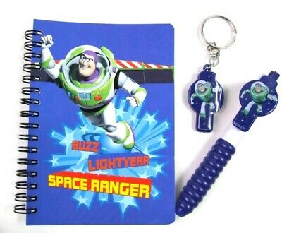 Disney Pixar's Toy Story Buzz Lightyear Light'n'write Pen Notebook Torch And...
