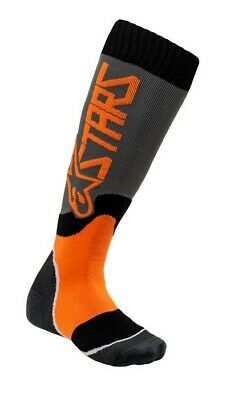 2020 Alpinestars Mx Plus 2 Boot Socks Grey Orange Motocross Mx Enduro Cheap New