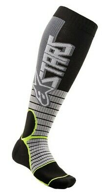 2020 Alpinestars Mx Pro Boot Socks Grey Yellow Flo Motocross Mx Enduro Cheap New