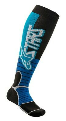 2020 Alpinestars Mx Pro Boot Socks Cyan Blue Black Motocross Mx Enduro Cheap New