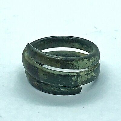 800-1100 AD Medieval Viking Ring Ancient Brass Artifact Antiquity European Old