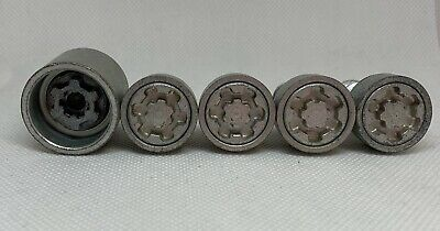 Genuine Set Of 4 VW Volkswagen Locking Wheel Nuts With Caps And Key 777 T