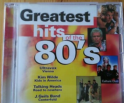 "CD ""Greatest Hits of the 80's"" 16 SUPER Titel TOP 1A Musik Billy Idol Kim Wilde"