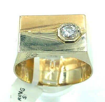 14ct White/Rose Gold Diamond Solitaire Ring